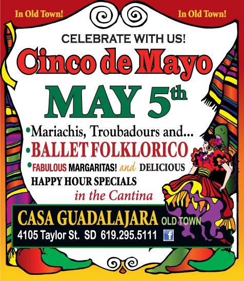 Casa Guadalajara Old Town San Diego Celebrates Cinco de Mayo