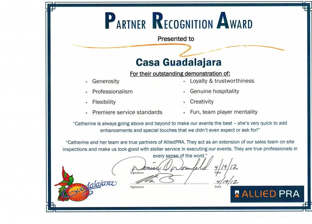 Casa Guadalajara Catherine Breedlove Award