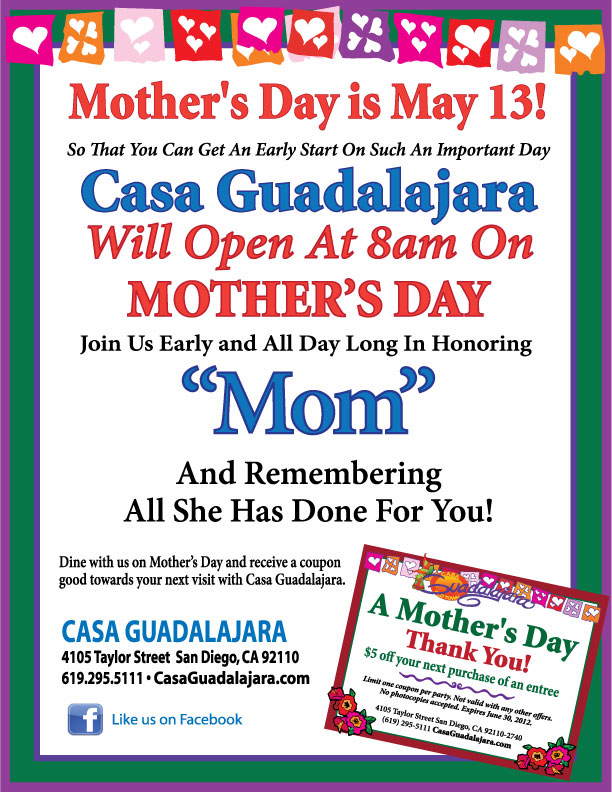 Casa Guadalajara Mother's Day 2012