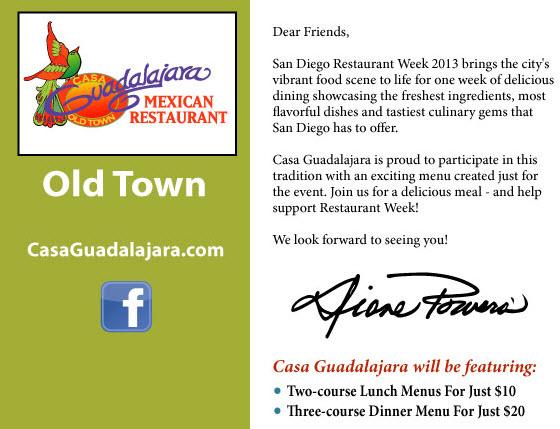 Casa Guadalajara Restaurant Week 2013