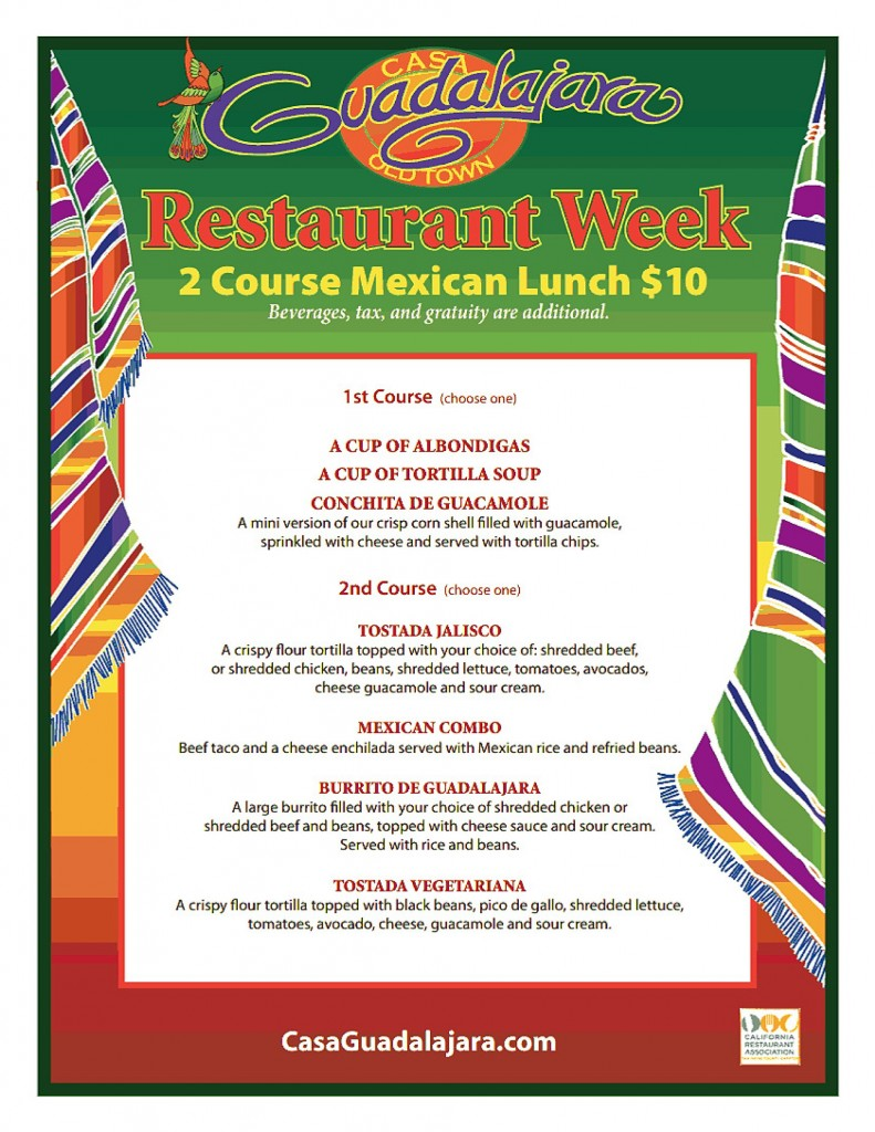 San Diego Restaurant Week Winter 2014 Lunch
